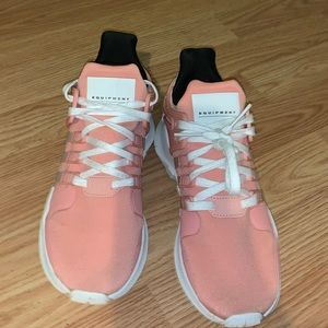 Coral pink Adidas EQTs